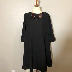 ASOS Curve Black swing dress.